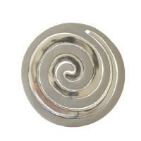 Yair Emanuel Aluminum Trivet Two Piece Swirl - Two Tone Silver