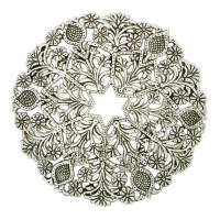 Yair Emanuel Aluminum Trivet Round Star Design