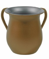 Yair Emanuel Washing Cup Textured Steel Gold
