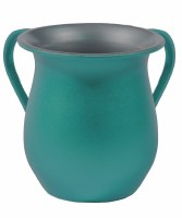 Yair Emanuel Washing Cup Textured Steel Turquoise