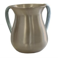 Yair Emanuel Aluminum Cast Wash Cup - Gold with Silver Handles