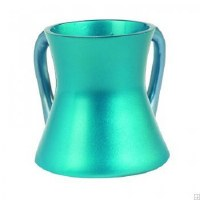 Yair Emanuel Anodized Aluminum Wash Cup Small Turqoise