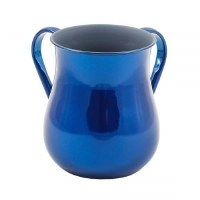 Yair Emanuel Wash Cup Stainless Steel Large Size Blue