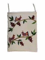 Yair Emanuel Embroidered Handbag White Birds