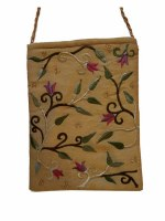 Yair Emanuel Embroidered Handbag - Gold Flowers