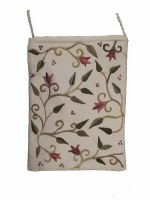 Yair Emanuel Embroidered Handbag - White Flowers