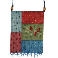 Yair Emanuel Applique Embroidered Bag - Multicolor Pomegranates