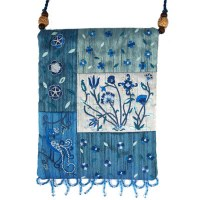 Yair Emanuel Applique Embroidered Bag - Blue Flowers
