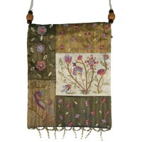 Yair Emanuel Applique Embroidered Bag - Gold Flowers