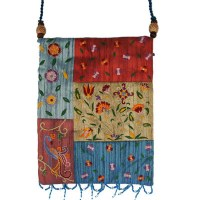 Yair Emanuel Applique Embroidered Bag - Multicolor Flowers