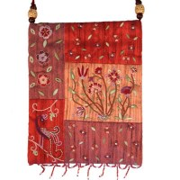 Yair Emanuel Applique Embroidered Bag - Red Flowers