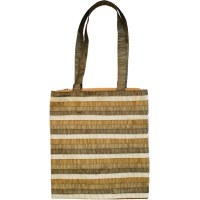 Yair Emanuel Gold Striped Applique Patches Bag