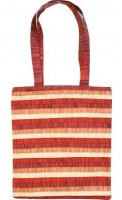 Yair Emanuel Red Striped Applique Patches Bag