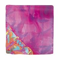 Yair Emanuel Painted Silk Scarf Square - Jerusalem Pink