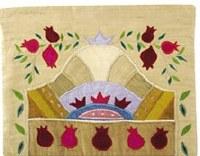 Yair Emanuel Raw Silk Tallit Bag - Pomegranates Gold