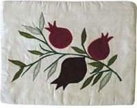 Yair Emanuel Raw Silk Tallit Bag - Pomegranate