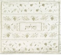 Yair Emanuel Embroidered Tallit Bag - Pomegranates Silver