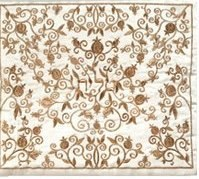 Yair Emanuel Full Embroidered Tallit Bag - Pomegranates Gold