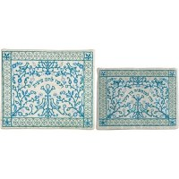 Yair Emanuel Embroidered Paper Cut Tallit and Tefillin Bag Set - Blue