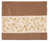 Yair Emanuel Tallis Bag Microsuede Brown with Pomegranate Design