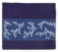 Yair Emanuel Tallis Bag Microsuede Blue with Pomegranate Design