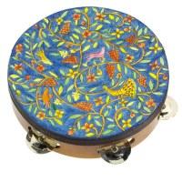 Yair Emanuel Handpainted Leather Tambourine - Oriental
