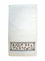 Yair Emanuel Embroidered Netilat Yadayim Towel - Pomegranate