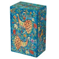 Yair Emanuel Rectangular Tzedakah Box - Peacocks