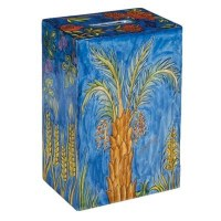 Yair Emanuel Rectangular Tzedakah Box - The Seven Species