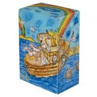 Yair Emanuel Rectangular Tzedakah Box - Noah's Ark