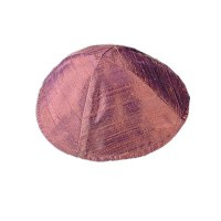 Yair Emanuel Raw Silk Kippah - Red