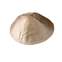 Yair Emanuel Raw Silk Kippah - Gold