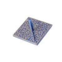 Flat Dreidel Decorative Blue Anodized Aluminum Cutout Design by Yair Emanuel