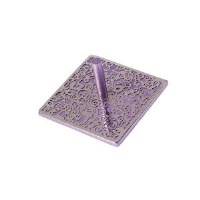 Flat Dreidel Decorative Purple Anodized Aluminum Cutout Design by Yair Emanuel