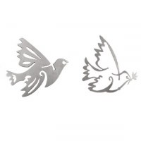 Yair Emanuel Aluminum Dove Trivet Two Piece Set