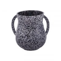 Wash Cup Metal Black Marble Design by Yair Emanuel