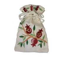 Yair Emanuel Judaica Embroidered Spice Bag Pomegranate