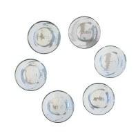 Yair Emanuel Set of 6 Glass Seder Plate Bowls