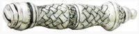 """Challah Knife Silver 925 Serrated Blade Weave Design Handle 13"""""""