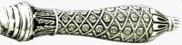 "Challah Knife Silver 925 Serrated Blade Flower in Diamond Shape Design Handle 13"""
