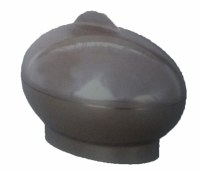Esrog Box Grey Plastic Oval Shaped with Cover