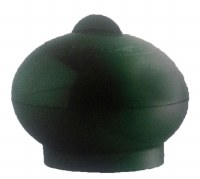Esrog Box Green Plastic Oval Shaped with Cover