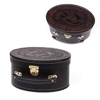Esrog Box Brown Letherette with Handle and Buckle