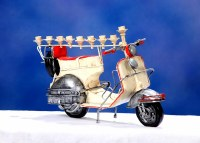 Candle Menorah Hand Crafted Metal Easy Riding Motorcycle