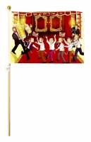 Simchas Torah Flag Dancing with the Torah Scene 25 Pack