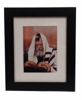 Framed Picture of the Lubavitcher Rebbe in Tallis and Tefillin