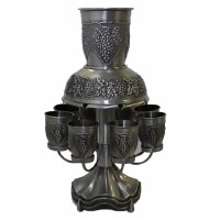 Kiddush Fountain Pewter 8 Cup #FWA04710KH