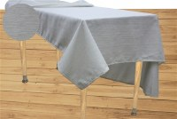 "Jacquard Tablecloth Light Cream and Gold Textured Pattern 54"" x 72"""
