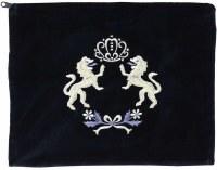 Tallis Bag Kfir Navy Velvet  Silver Embroidery