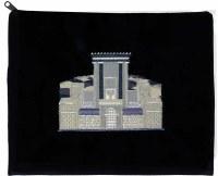 Tallis Bag Navy Velvet Silver Embroidery #5